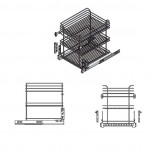 Trodelna izvlečna košara za kuhinjski element JOLLY- mehko zapiranje, polni izvlek IZVLEČNE KOŠARE