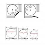 Kotni vrtljivi element cel krog PVC KOTNI SISTEMI
