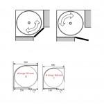 Kotni vrtljivi element cel krog - žični KOTNI SISTEMI
