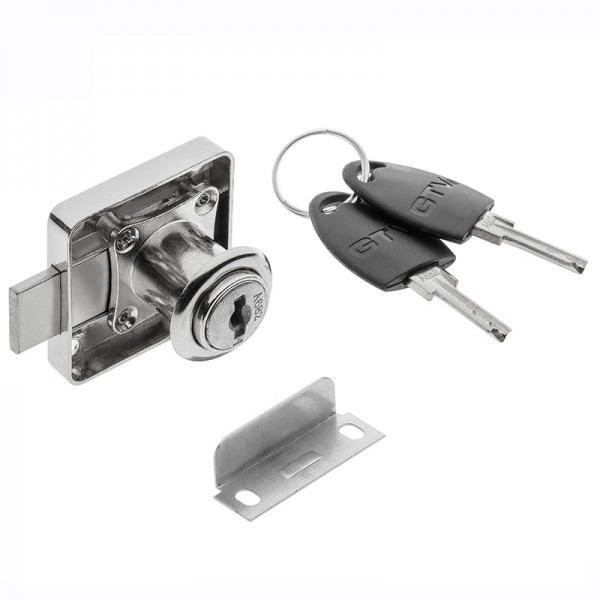 GTV Pohištvena ključavnica kvadratna na ključ POHIŠTVENE KLJUČAVNICE