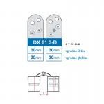 Nevidna spona Pivota DX 61 - 3D STAVBNO OKOVJE